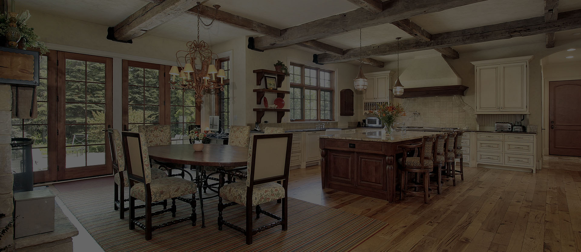 Kitchen ideas for your timber frame home post beam for Post and beam kitchen ideas