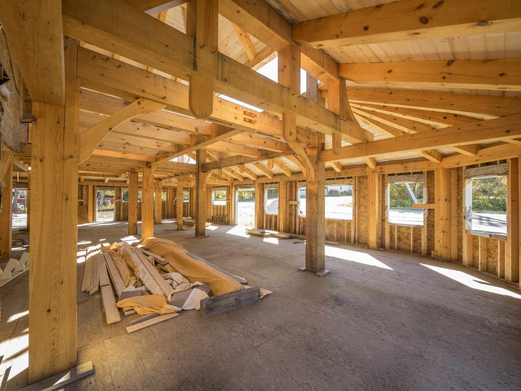 Benefits of post and beam construction post beam homes inc for Post beam construction